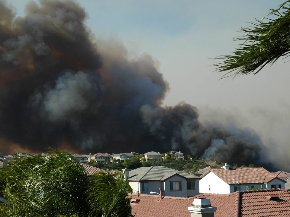 Neighborhood struck by wildfire